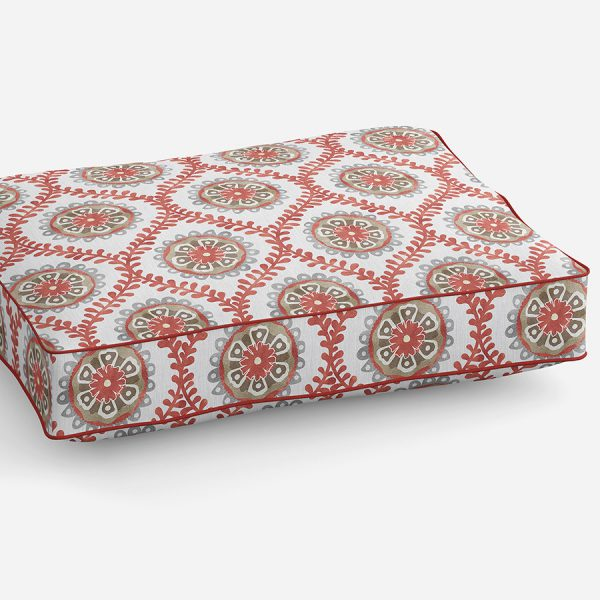 Ogee Floral Pattern P942 on Sofa Cushion