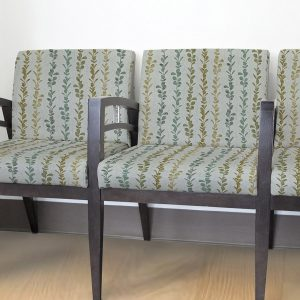 Stripe Organic Leaves Pattern P935 on Reception Chairs