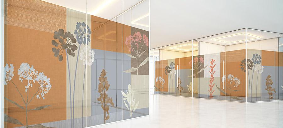 Landscape Pattern P1145 on Hospital Glass