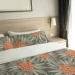 Floral Sunflower Pattern P768 on Bedding