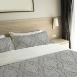 Ogee Indian Lace Pattern P786 on Hotel Bed