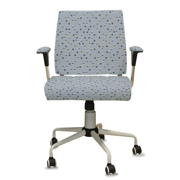 Stitched Stripe with Squares Pattern P319 on Office Chair
