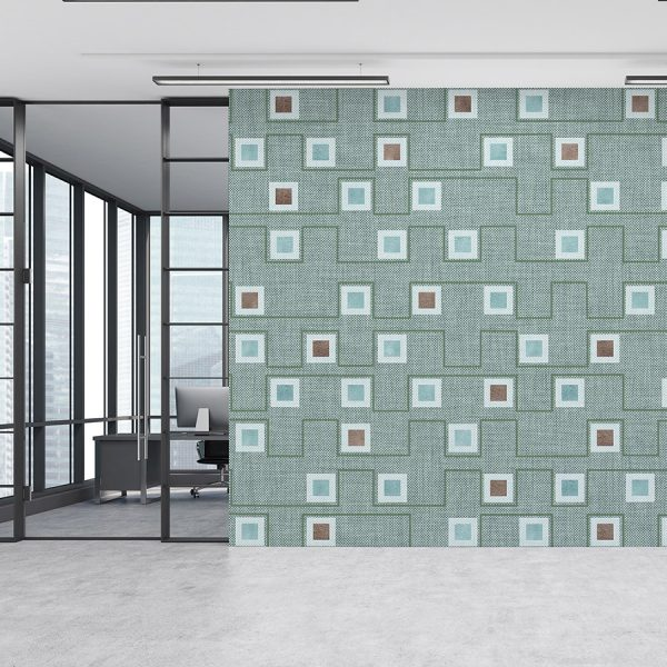 Geometric Squares Pattern P320 on Office Wall