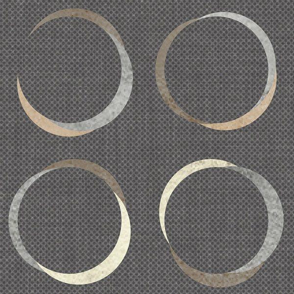 Geometric Overlaying Circles Pattern P292 Close Up