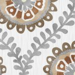 Ogee Floral Pattern P942 Close Up