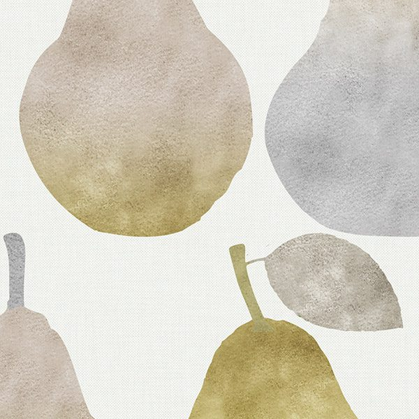 Watercolor Pears Pattern P952 Close Up