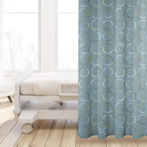 Geometric Overlaying Circles Pattern P292 on Privacy Curtains