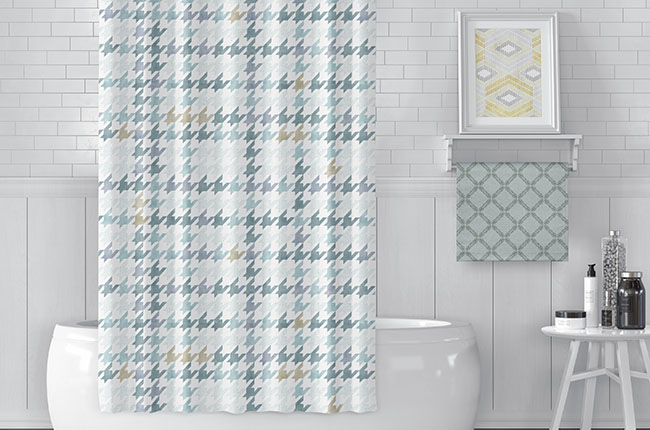AATCC Event Image Pattern on Shower Curtain