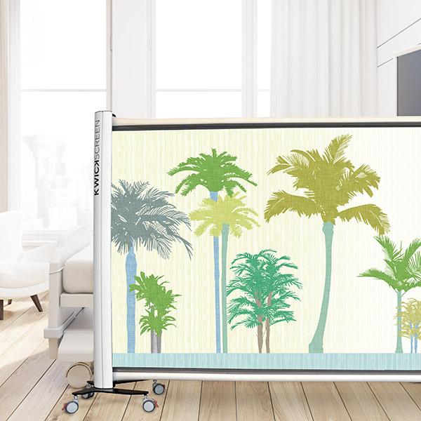 Design Pool Coastal Pattern P1144 on KwickScreen Privacy Screen in Hospital Room