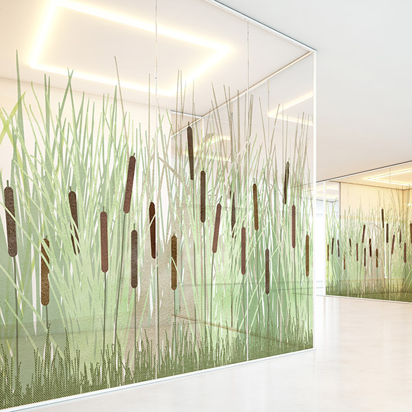 Design Pool Marsh Pattern P1147 on Vistamatic Hospital Glass