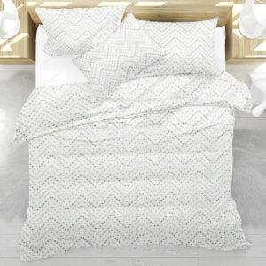 Stitched Chevron Pattern P211 on Bedding