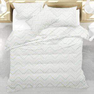 Stitched Chevron Pattern P211 on Bedding