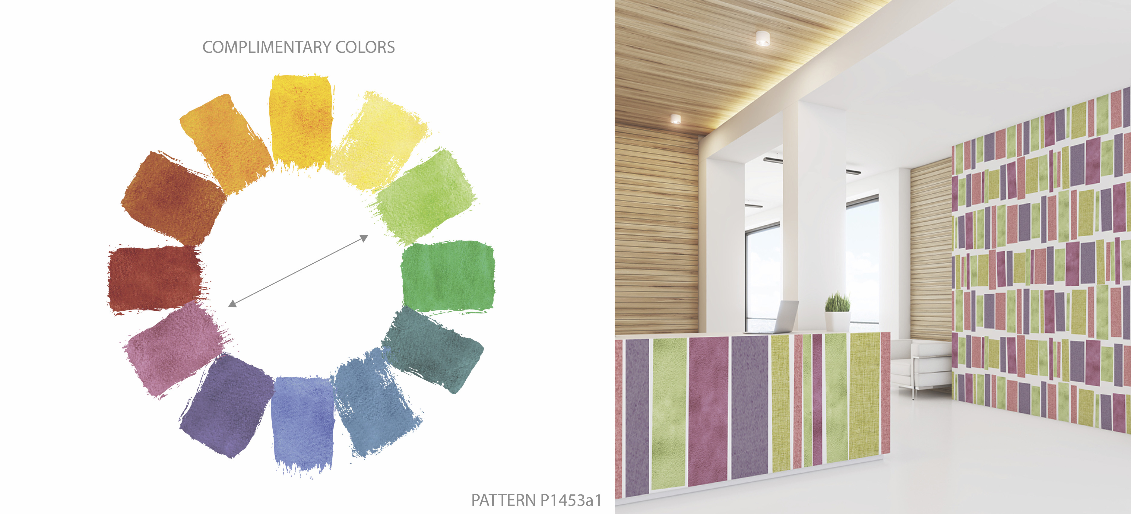 Color Wheel Complimentary Colors Pattern P1453 Deco Stripe