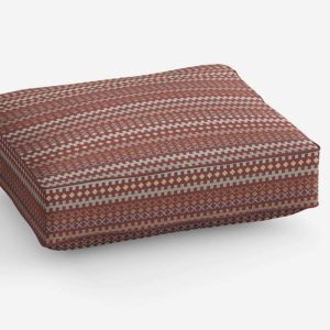 New Mexico Stripe Vector Pattern P966 in Red on Cushion
