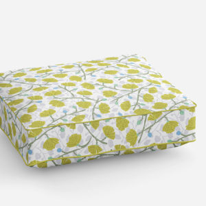 Ginkgo Flowers Pattern P239 in Green on Cushion for Sofa or Chairs