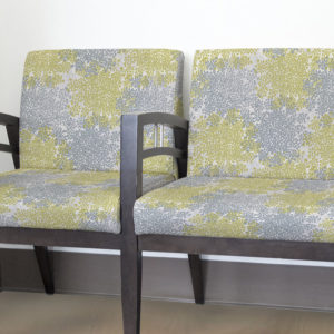 Queen Anne's Lace Pattern P242 in Gray on Chairs for Reception Seating