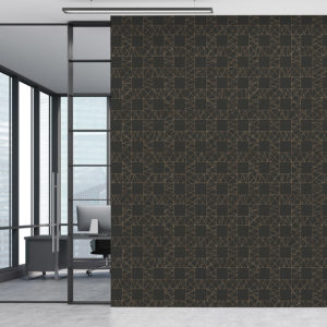 Plaid Lace Grid Pattern P362 in Black on Wallpaper for Office or Hotel