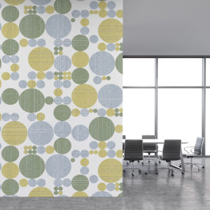 Stitched Circles Pattern P223 on Office Wall