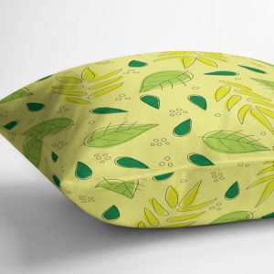 Tossed Leaves Pattern P250 in Yellow on Throw Pillow