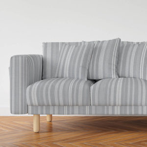 Stitched Stripe Vector Pattern P1301 in Gray on Sofa for Home, Office , Education or Hotel