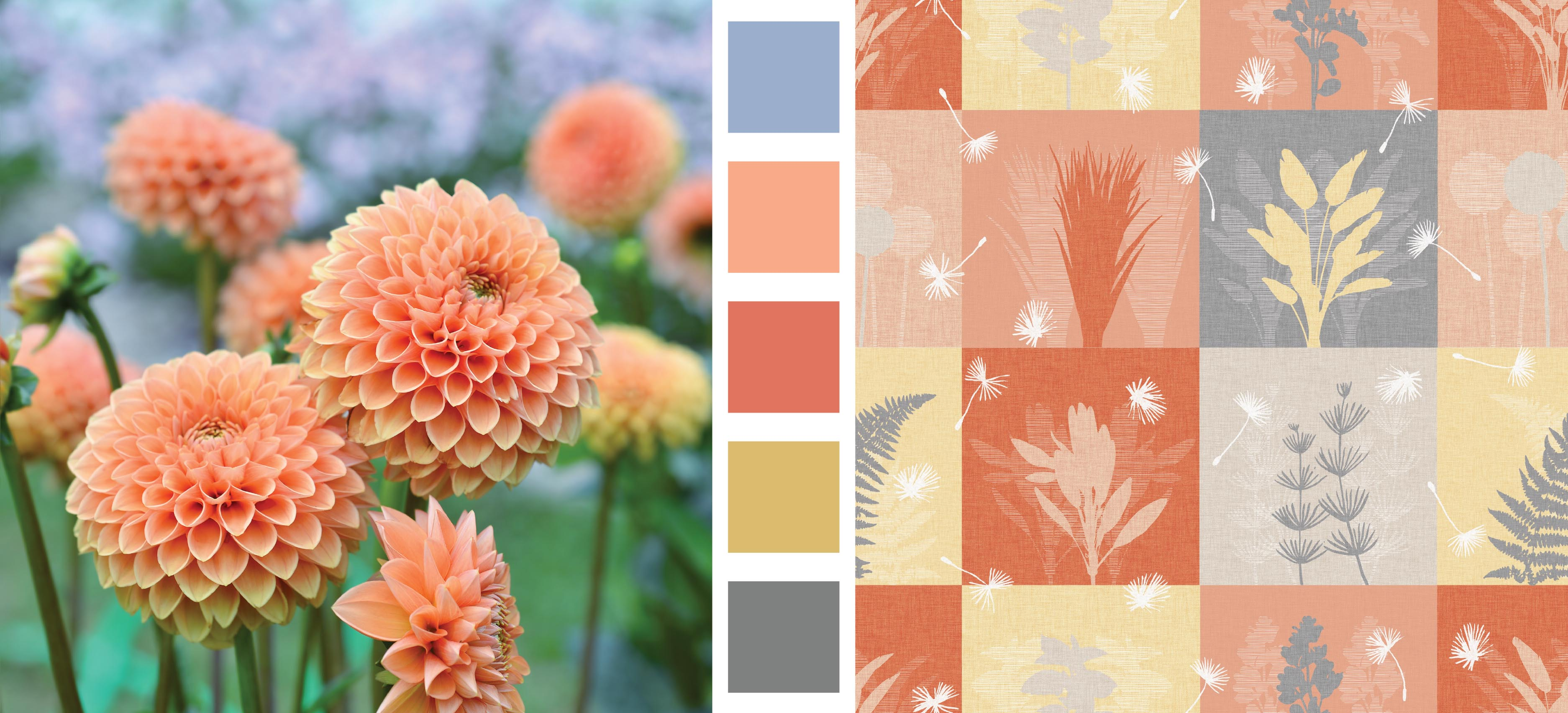Earth Day Design and Color Inspiration Floral Squares