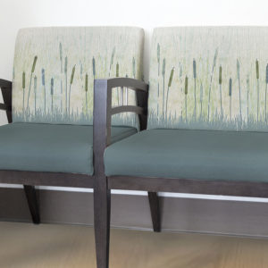 Marsh Pattern P1147 in Aqua on Reception Seating for Healthcare