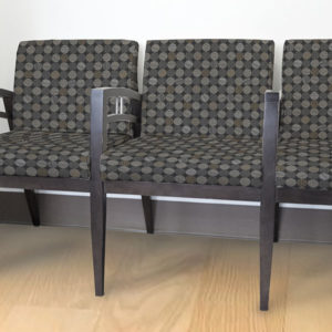 Stitched Mini Circles Pattern P267 in Gray Upholstered on Chairs for Helalthcare