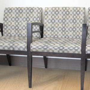 Circle Overlay Pattern P307 in Gray on Receptions Seating