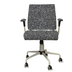 Yarn Plaid Texture Pattern P1279 in Black on Task Seating for Office