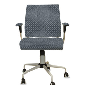 Interlacing Loops Pattern P1291 in Blue on Task Chair for Office