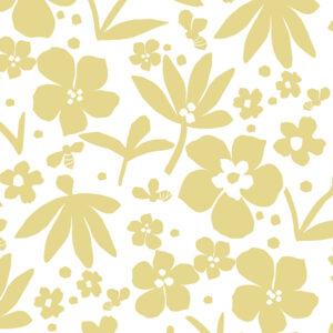 Flower Bee Pattern P1465 in Yellow