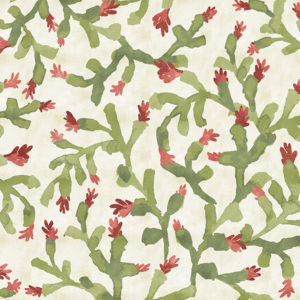 Cactus Pattern P1467 in Green