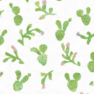 Cactus Tossed Pattern P1468 in Green