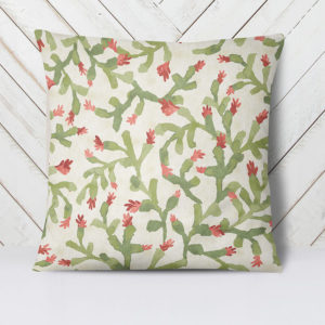 Cactus Pattern P1467 in Green on Pillows for Home or Hotel