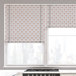 Double Plaid Dot Pattern P35 in Pink on Window Shades for Home, Hotel or Office
