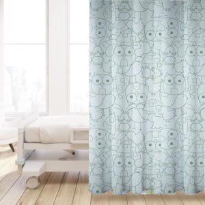 Cut Critters Pattern P394 in Blue on Privacy Curtain for Pediatric Hospital