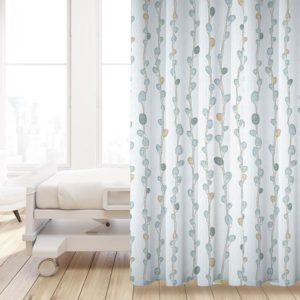 Pussy Willow Pattern P633 in Blue on Privacy Curtain for Healthcare