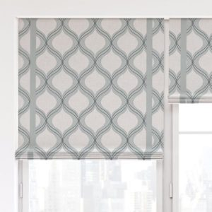 Double Ogee Pattern P710 in Aqua on Window Treatments for Home
