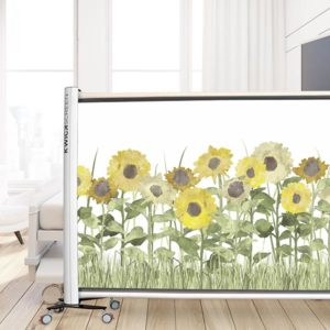 Sunflower Field Pattern P1474 in Yellow on Privacy Screen for Healthcare
