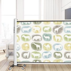 Safari Circle Pattern P583 in Green on Privacy Screen for Pediatric Hospital