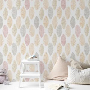 Light as a Feather Pattern P940 in Pink as Wallpaper for Kids Room