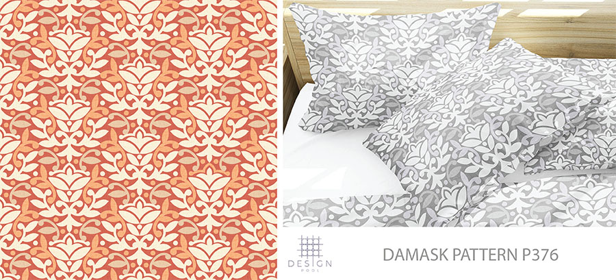 Damask Blog Pattern P376
