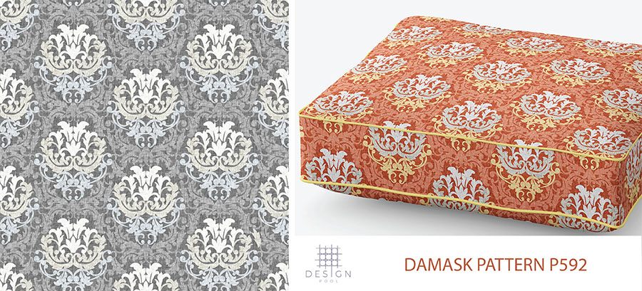 Damask Blog Pattern P592