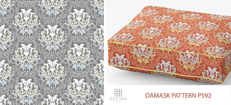 Damask Blog Pattern P592