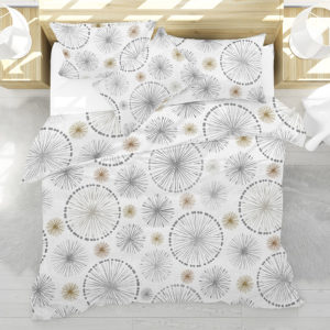 Pinwheel Spokes Pattern P269 in Gray on Bedding
