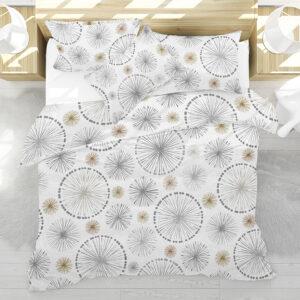 Pinwheel Spokes Pattern P269 in Gray on Bedding