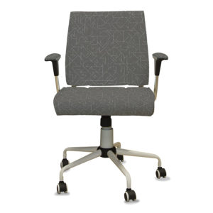Subway Pattern P233 in Gray on Office Chair