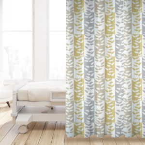 Rectangle Vine Pattern P326 in Yellow on Privacy Curtain