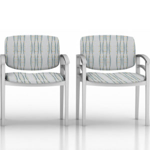 Helix Pattern P301 in Aqua on Reception Seating for Healthcare
