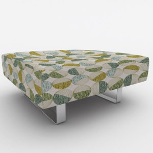 Global Pattern P373 in Green on Ottoman for Office